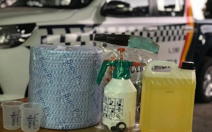 PMDF entrega kits de higienização para viaturas
