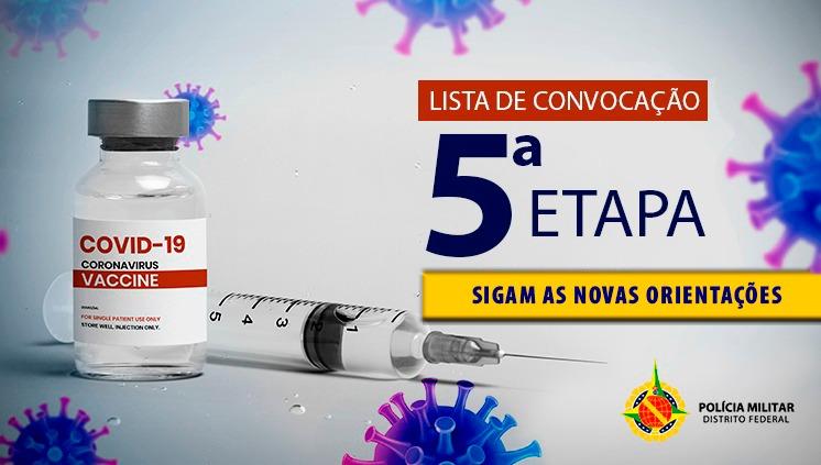 Quinta etapa da campanha de vacinação terá mudanças importantes