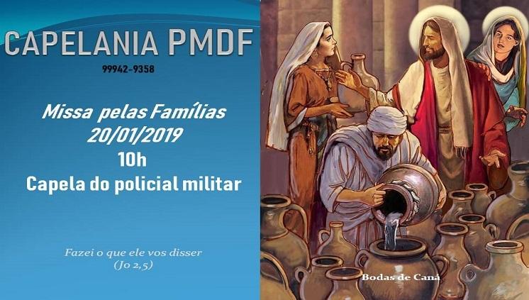 Capelania Católica celebra Missa pela Família